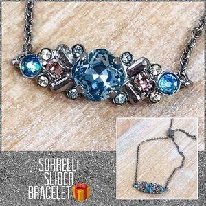 Sorrelli Crystal OSFA Slider Bracelet,NWT
